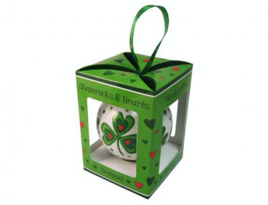 Shamrocks & Hearts Christmas Bauble