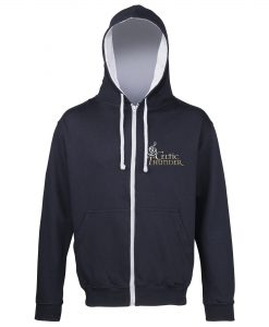 Navy & Gray Musical Note Embroidered Hoodie