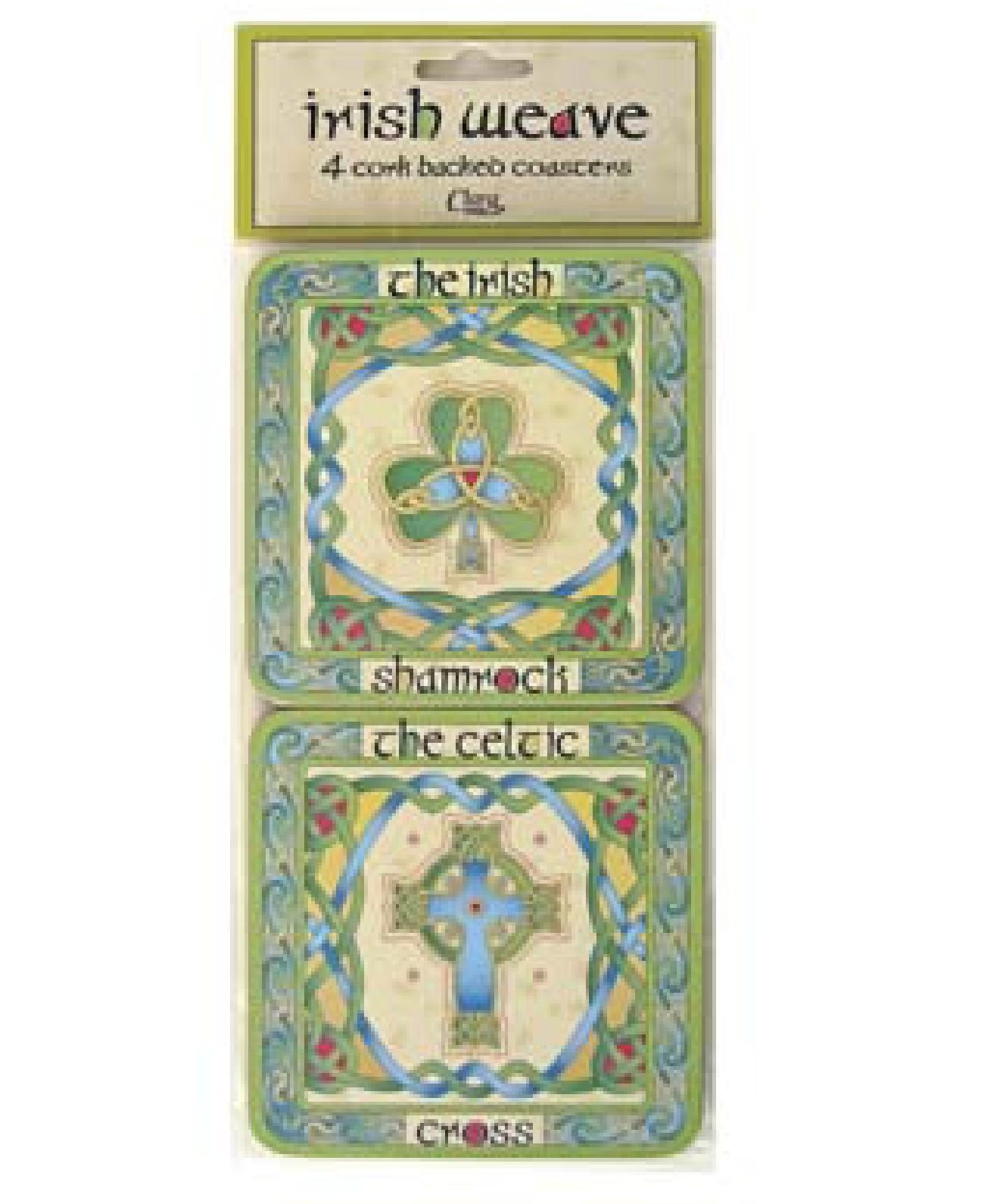 Set Of 4 Irish Emblem Coasters