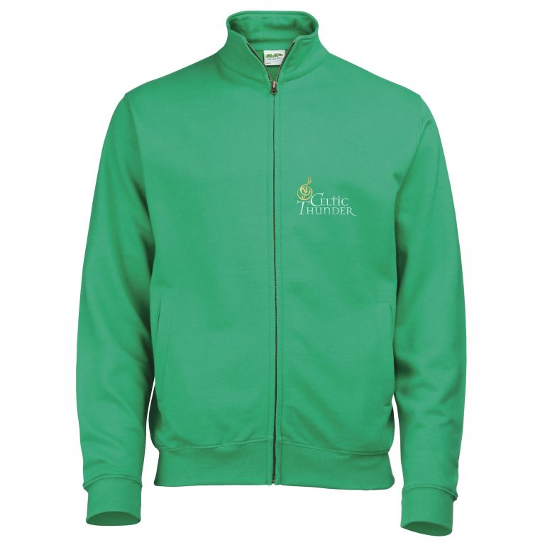 New Celtic Thunder Musical Note Green Sweatshirt