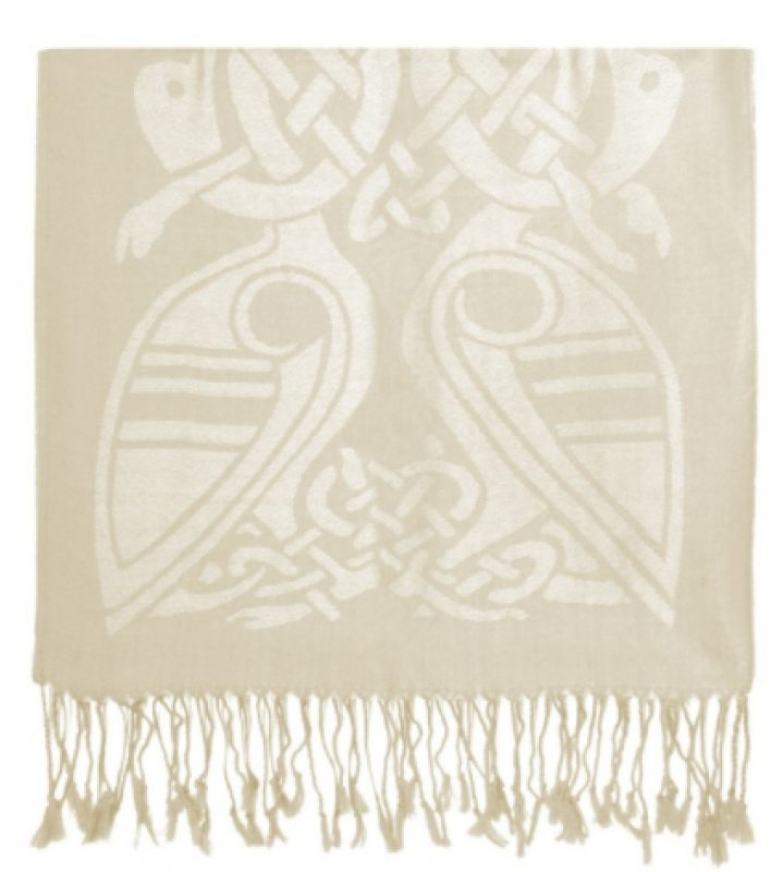 Cream & White Wool Scarf