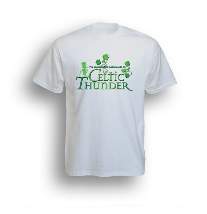 The Leprechauns Made Me Do It T-Shirt White