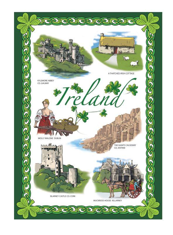 Images Of Ireland Tea Towel