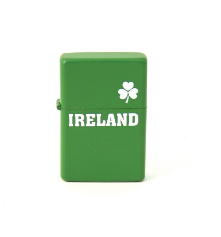 Green Shamrock Wind Proof Lighter