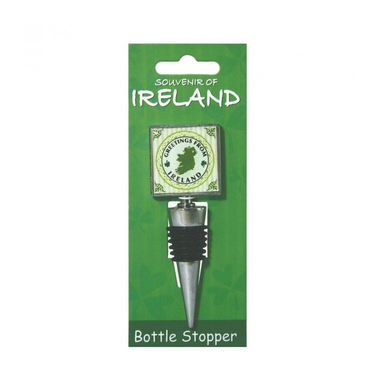 Greeting From Ireland Wine Bottle Stopper