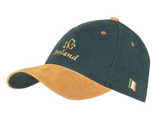 GREEN IRELAND CAP WITH SWEDE PEAK