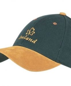 GREEN IRELAND CAP WITH SWEDE PEAK