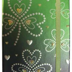 Shamrock And Hearts Note Book