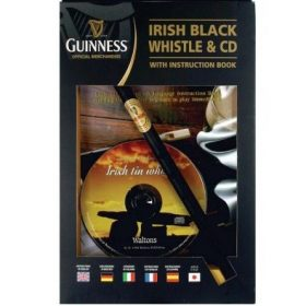 Guinness Irish Black Whistle w/ Instruction Book