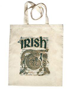 Book Of Kells Irish Script & Celtic Design Tote Bag