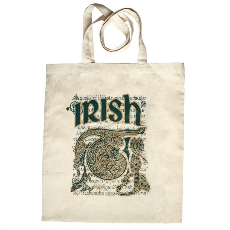 Book Of Kells Irish Script & Celtic Design Tote Bag