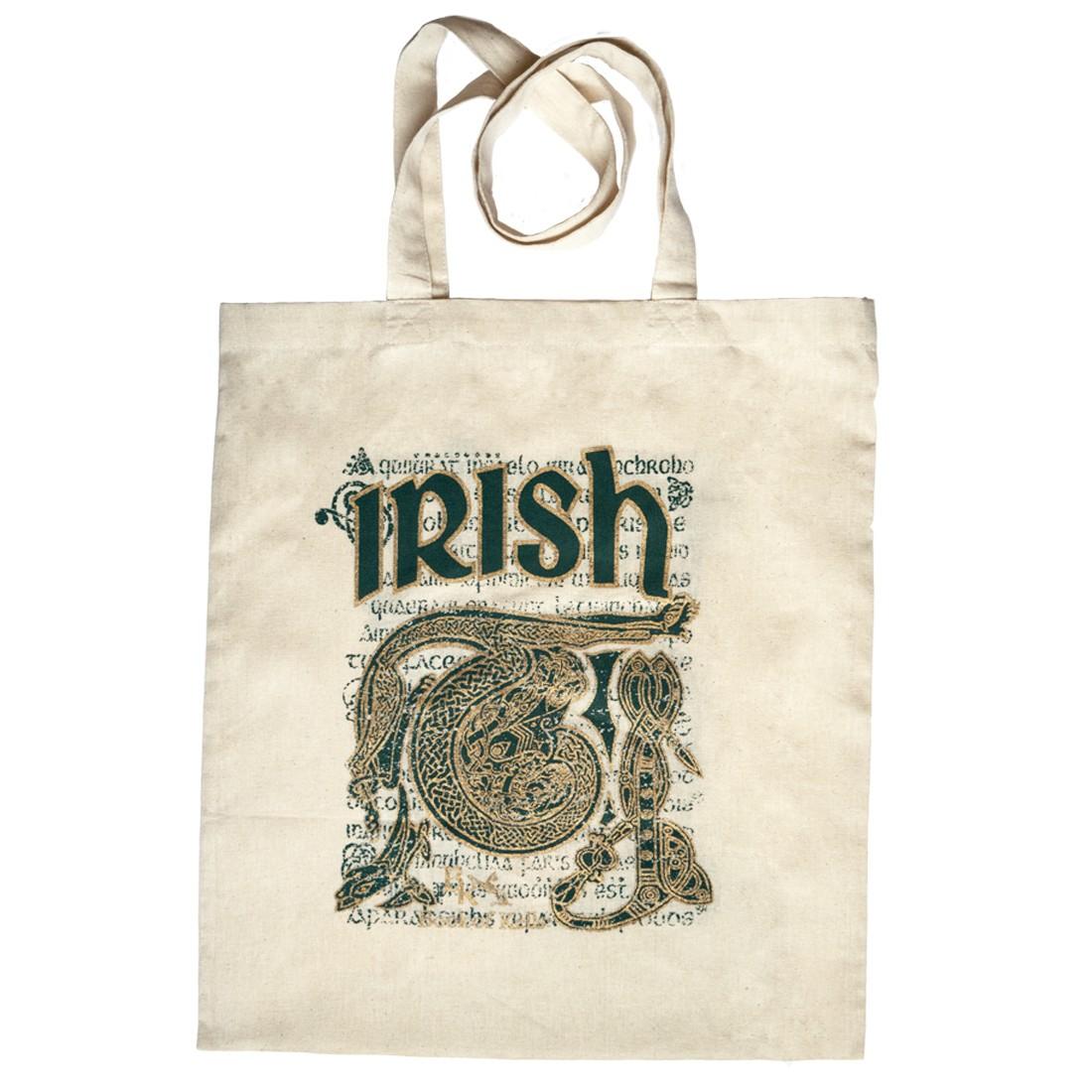 BOOK OF KELLS IRISH SCRIPT Amp CELTIC DESIGN TOTE BAG