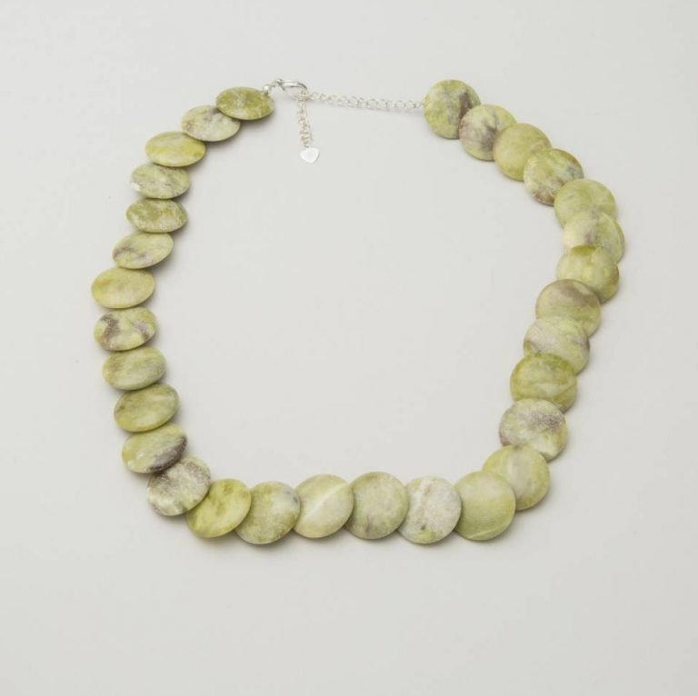 Connemara Marble Round Disc Necklace