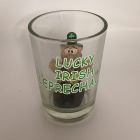 Lucky Irish Leprechaun In A Shot Glass