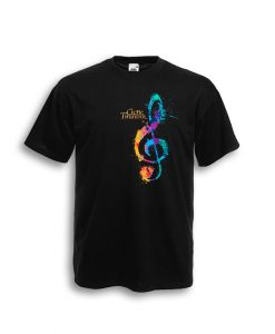CELTIC THUNDER 'G CLEF' TEE BLACK