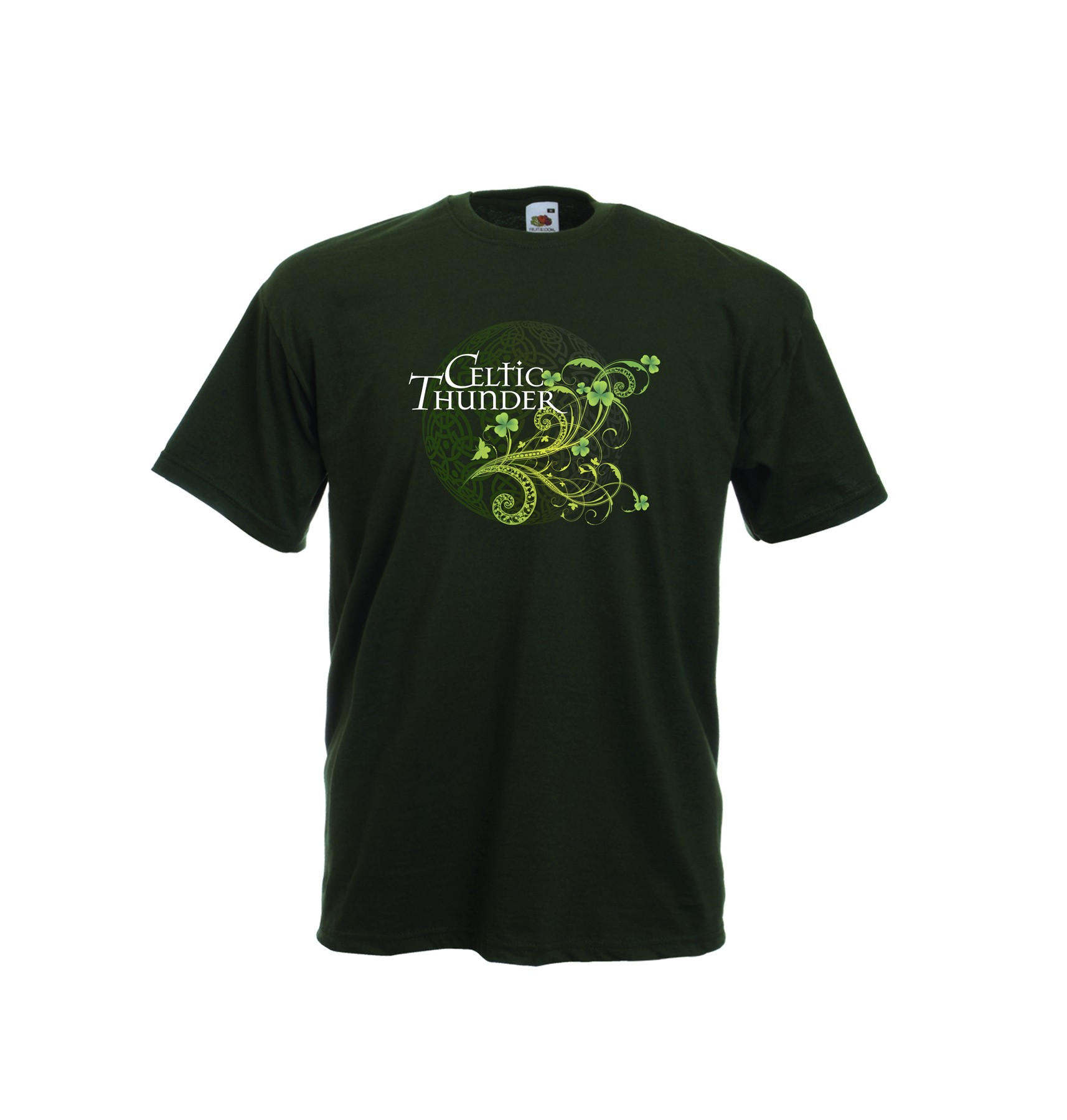 3D Filigree Irish Forest Green Tee