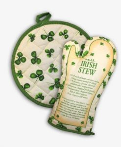 Irish Oven Glove & Pot Holder With Real Irish Stew Recipe
