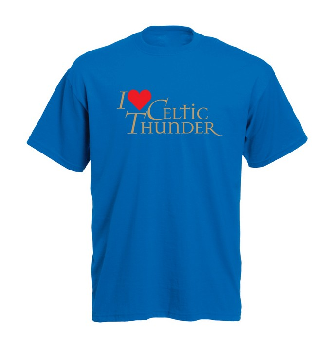 I Love Celtic Thunder T-Shirt Dublin Blue