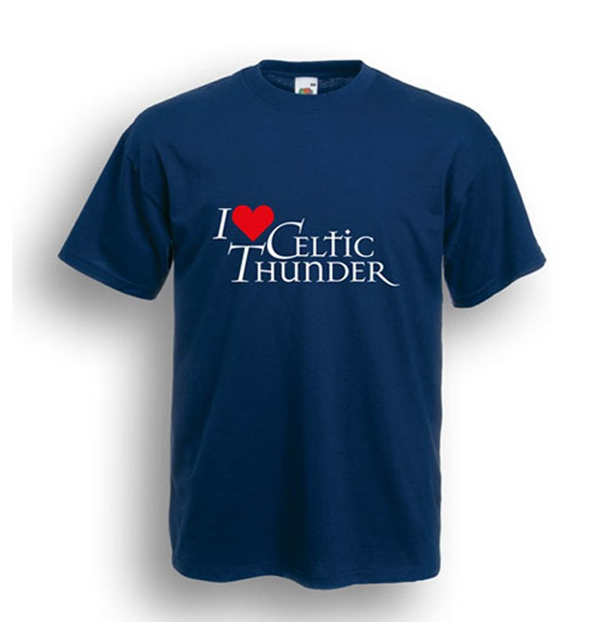 I Love Celtic Thunder T-Shirt Navy