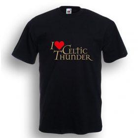 I Love Celtic Thunder T-Shirt Black