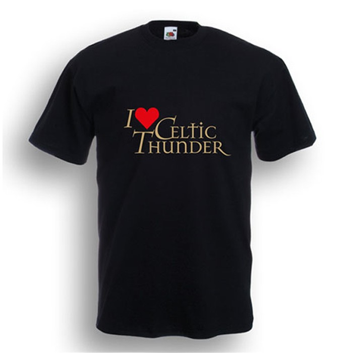 I Love Celtic Thunder T-Shirt Black