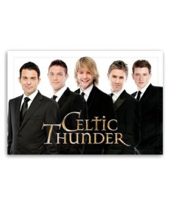 "Celtic Thunder Jumbo Magnet "" Men In Black """