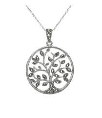 Large Tree Of Life Pendant With Marcasite Stones