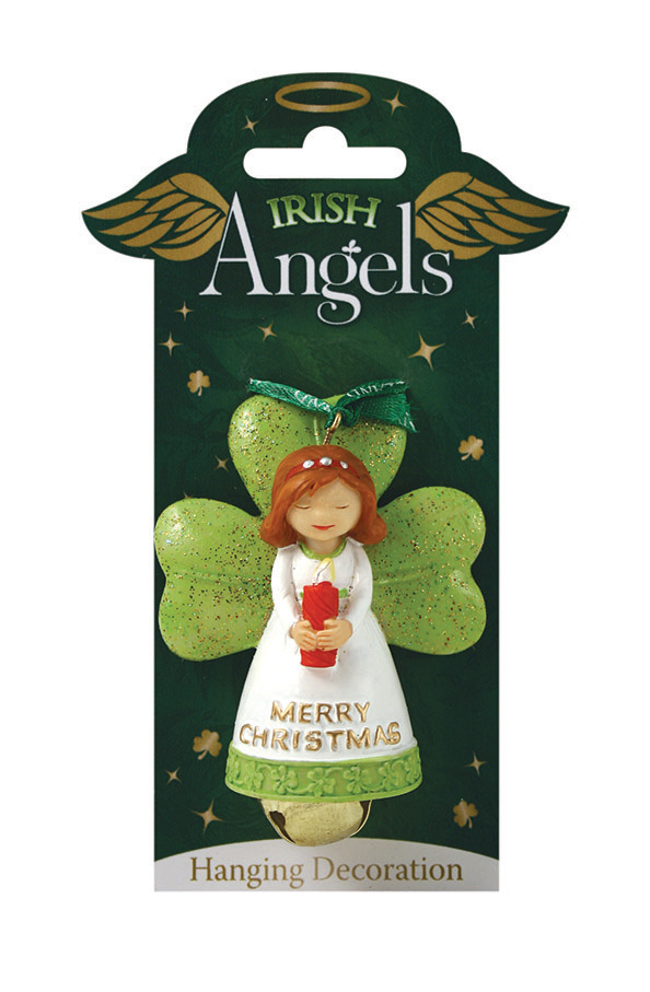 irish angel christmas decoration with bell celtic thunder store