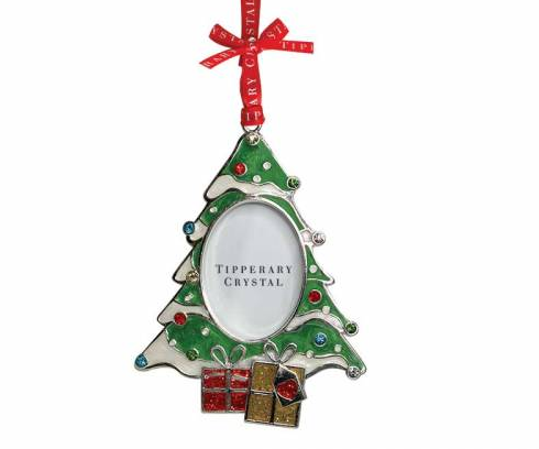 tipperary crystal christmas tree photo frame decoration celtic thunder store