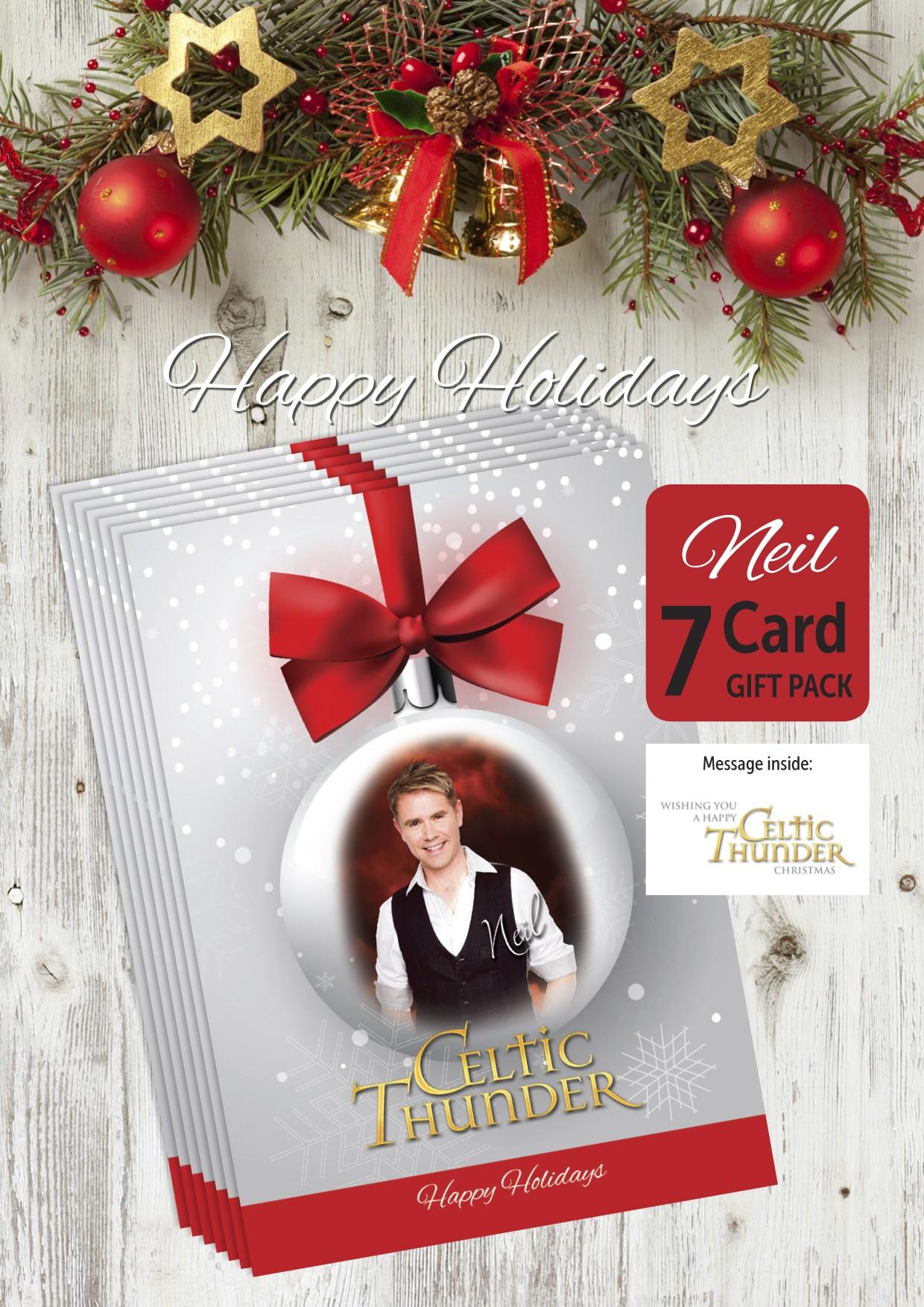 7 Large Neil Byrne Christmas Cards – Celtic Thunder Store