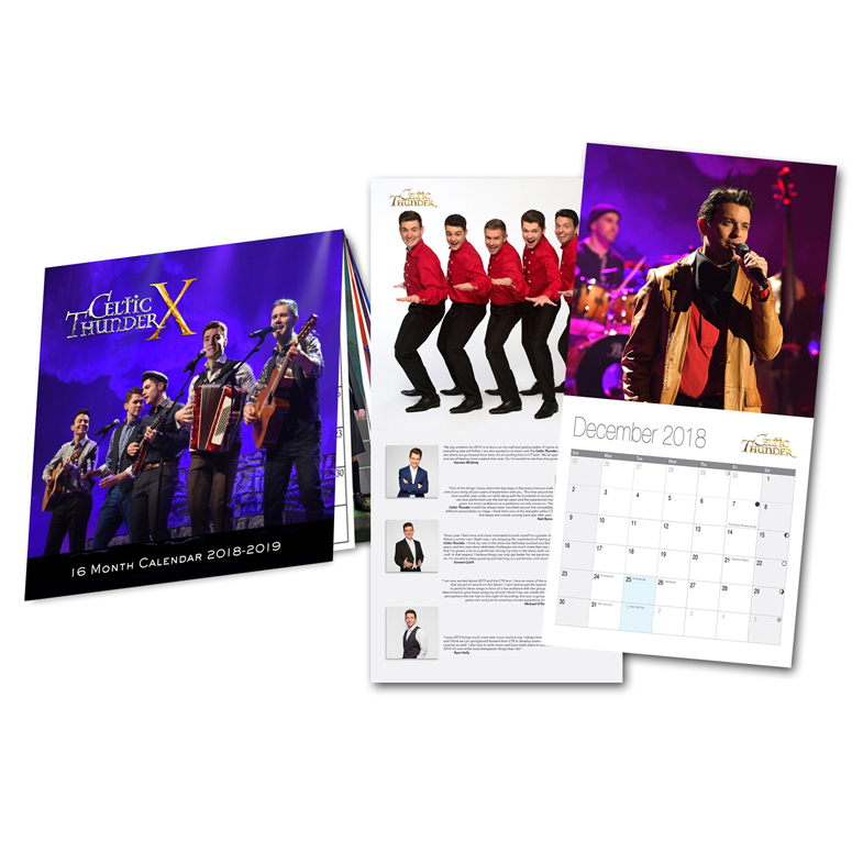 Celtic Thunder X 2018 2019 Ten Year Celebration Calendar Celtic